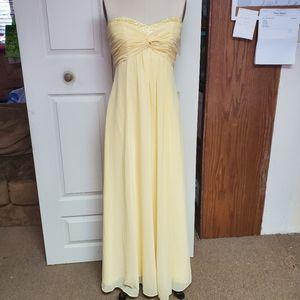 David's bridal sun yellow dress